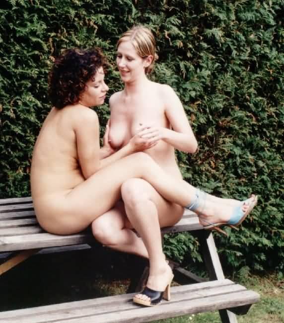 lesbians groping tits